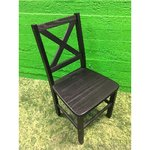 Black solid wood chair