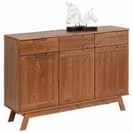 Solid wood dark brown chest of drawers