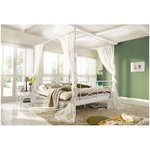White metal canopy bed (180x200) (torah)