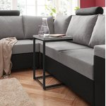 Gray-black small coffee table with metal frame (inosign) (whole, sample hall)