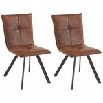 Peter chair 2 pack - microfiber Brown