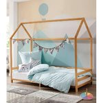 Brown solid wood cot (ellen)