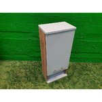 Light Brown Small Wall Cabinet 1 with White Door