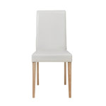 Blake PU chairs White-Oak/Light