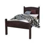 Barney Bed 90x200 Havana lacquer