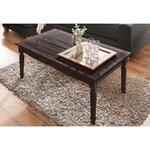 Juodas kavos staliukas su 2 stalčiais (Nojus)
