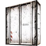 Container design wardrobe with sliding doors (width 150cm) (whole, in box)