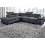 Pilka didelė kampinė sofa (ecksofa valantine) (dėžutėje, visa)