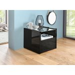Black high gloss bedside table (whole, sample hall)