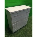 Light solid wood chest of drawers