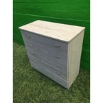 Untreated solid wood chest of drawers with 5 drawers