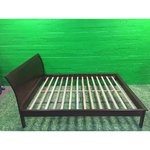Tumepruun puidust voodi FARGO 160x200