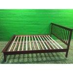 Defektiga tumepruun puidust voodi PEXTON 160x200