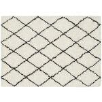 Valkoinen villakuvioinen matto (tifletti)