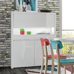 White high gloss cabinet (with lighting) (wool) (box, whole)