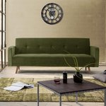 Green velvet sofa bed (crane) (whole, in box)