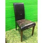 Pehme tumepruun tool kulunud nahkkattega