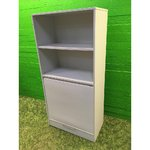 Light gray office cabinet with slider