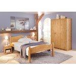 Легкая узкая деревянная кровать 90х200
