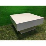 Глянцевый белый диван-стол (цельный)