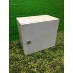 Small white cabinet with glass shelf
