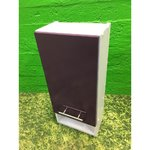 White bathroom cabinet with purple high-gloss door