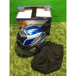 Sininen moottoripyörä kypärä Nitro N330-VX (M)