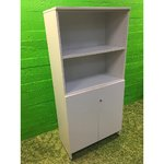 White office cabinet with shelves
