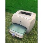 Must-valge laserprinter HP LaserJet 1000 series