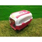 Roosa lemmiklooma reisipuur ratastel