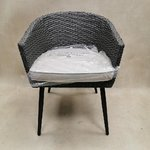 Gray garden chair with cushion (sample hall, whole)