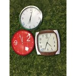 A selection of wall clocks