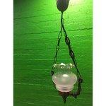 Vaskne laelamp klaaskuppliga