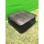 Темно-серый диван-стол с керамической плиткой