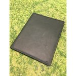 Black leather covers for a tablet