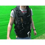 Motorcycle vest with neck cushion
