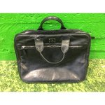 Black leather handbag Tiger