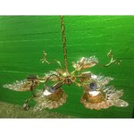 Suur kuldne laelamp 6 sokliga