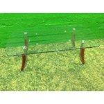 Lai kandiline klaasist diivanilaud (Puudulik)