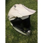 White scooter helmet