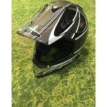 Черно-белый мотокросс шлем Nitro Racing MX411
