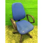 Blue office chair on wheels
