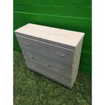 Small unprocessed solid wood chest of drawers