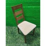 Helepruun täispuit tool beeži istmega