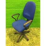 Blue office chair (with armrests)