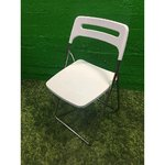 Valge kokkuklapitav tool