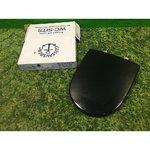 Black plastic Gustavsberg glass table