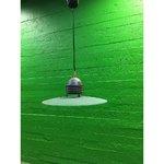 Väike rohelise klaasiga laelamp