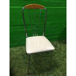 Metal chair white with a soft seat