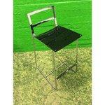 Metāls ar melnu krēsla krēslu